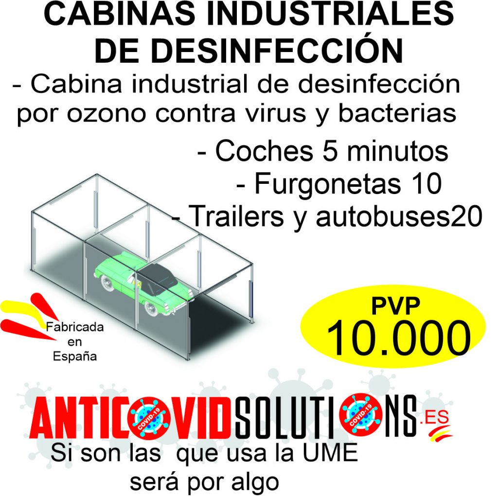 cabina industrial de desinfeccion
