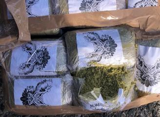Sorprenden a dos narcos con 22 kilos de hachís en el parking de La Cañada